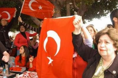 Türk bayraklı tepki !