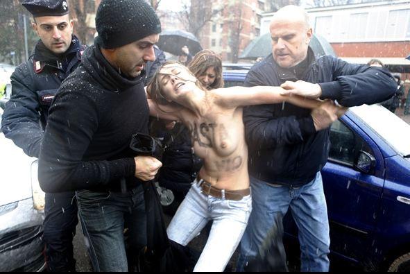 FEMENden tepki: Yeter Berlusconi!