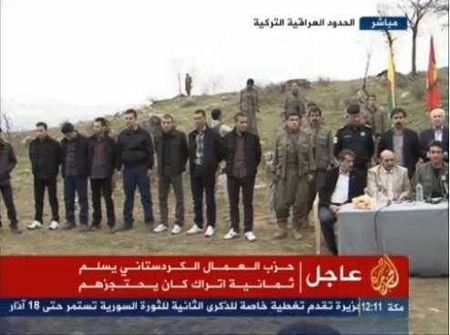 PKKnın elindeki kamu görevlileri serbest