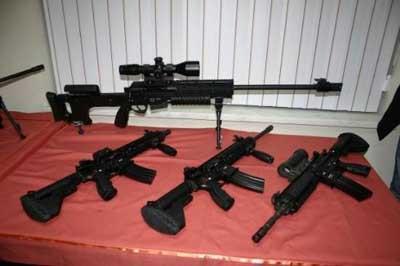 Teröriste korku salan silahlar