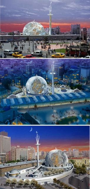 İşte Taksim Camiinin projesi