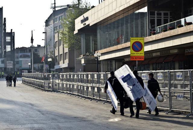 İstanbul sokaklarında 1 Mayıs