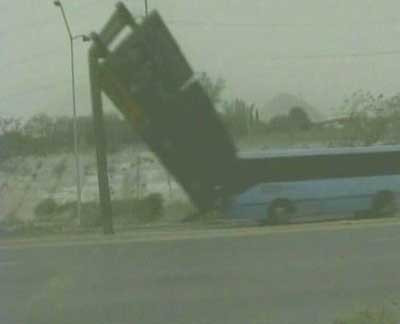 Kasırga inanılmaz kazalara sebep oldu