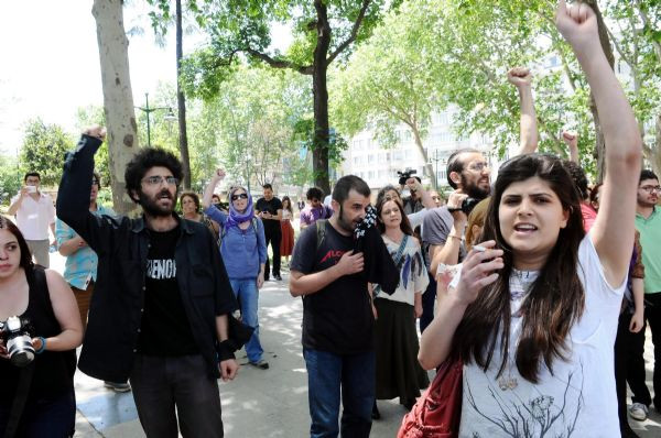 Taksim Gezide polis müdahalesi
