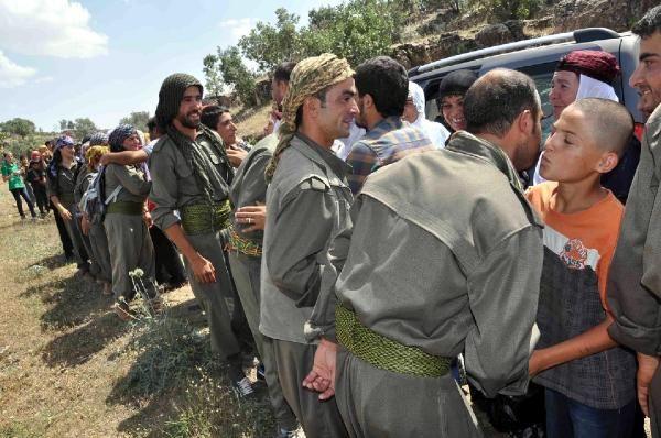 Bagok Dağına PKK flamalı çadır kurdular