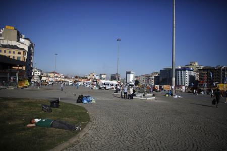 Taksim Meydanında bu sabah