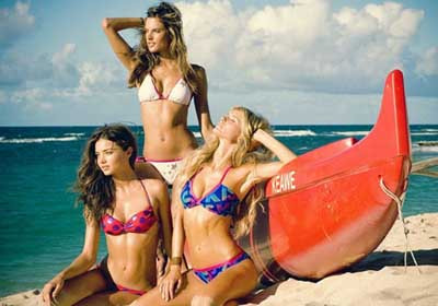 Victoria Secret güzelleri plajda !