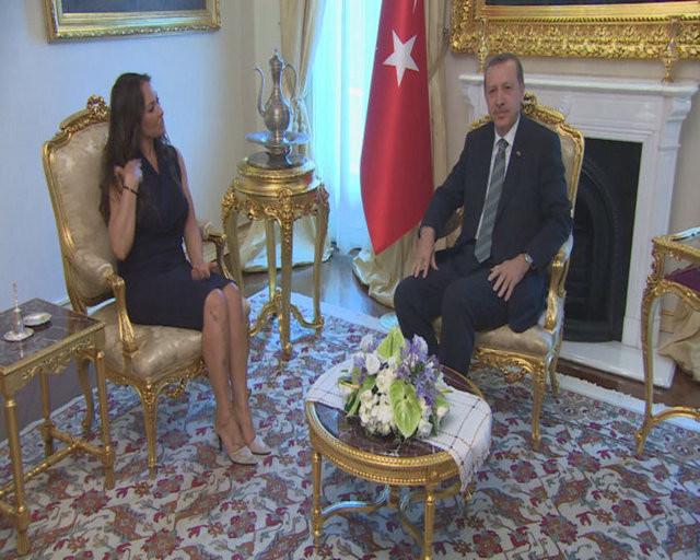 Başbakan Erdoğan, Hülya Avşarı kabul etti