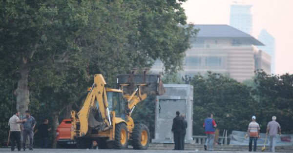 Müdahalenin ardından Gezi Parkı