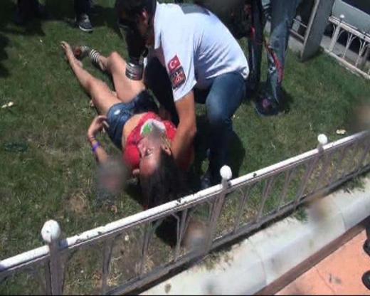 Taksimdeki müdahalede yaralananlar var