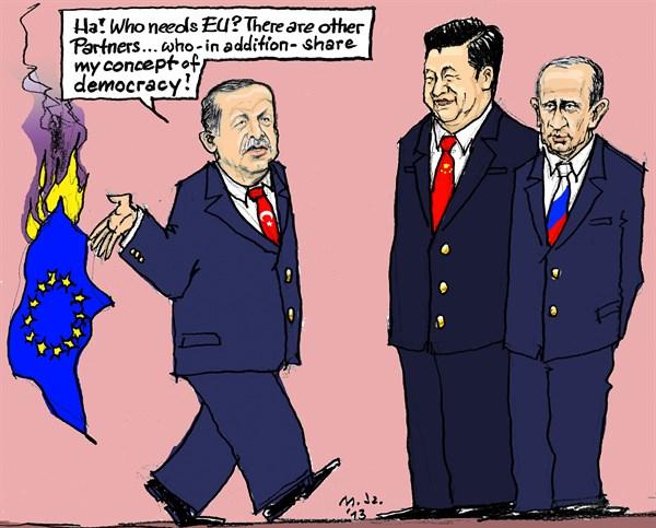 Başbakan Erdoğan için skandal karikatürler