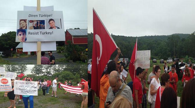 Fethullah Gülenin evinin önünde neler oluyor?