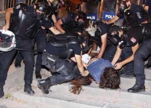 Gümüşsuyunda polis müdahalesi
