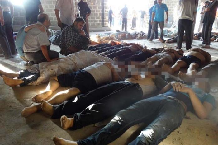 Esad çocukları katletti