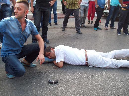 Belediye Başkanına araba çarptı