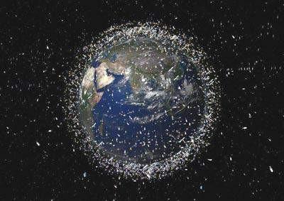 Dünyanın etrafındaki tehlikeli çöplük