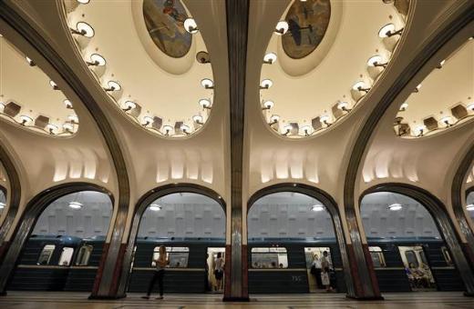 Müze değil Moskova metrosu