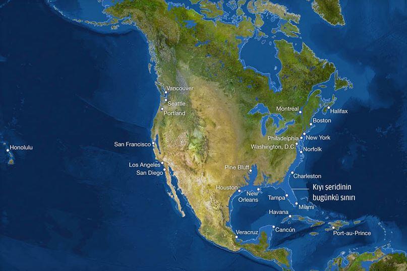 Buzullar erirse dünya haritası böyle olacak!