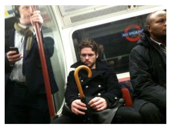 Metroda ünlü var !