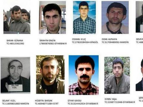 Kaçan PKKlıların kabarık suç dosyası