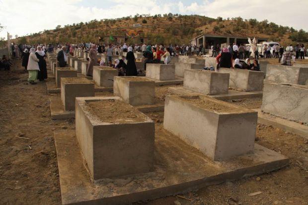 Lice´de PKK mezarlığı açtılar