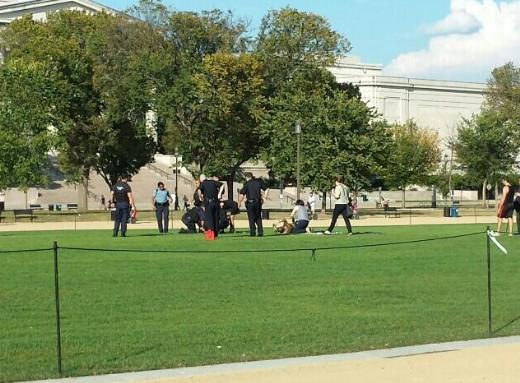 ABDde bir kişi kendini parkta yaktı