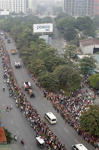 Vietnamda efsane generale görkemli veda