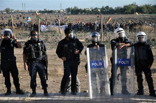 Suriye sınırında polis müdahalesi