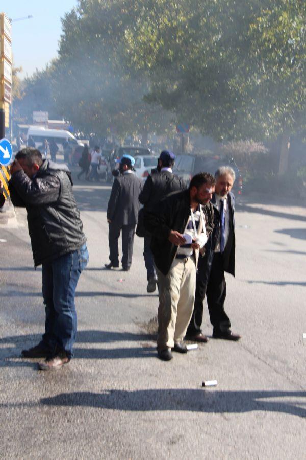 Ankara Adliyesi önünde müdahale