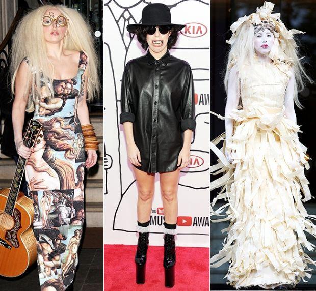 Gaganın olay yaratan 100 kıyafeti