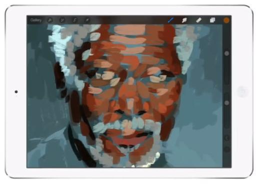 Morgan Freemanın birebir portresini yaptı
