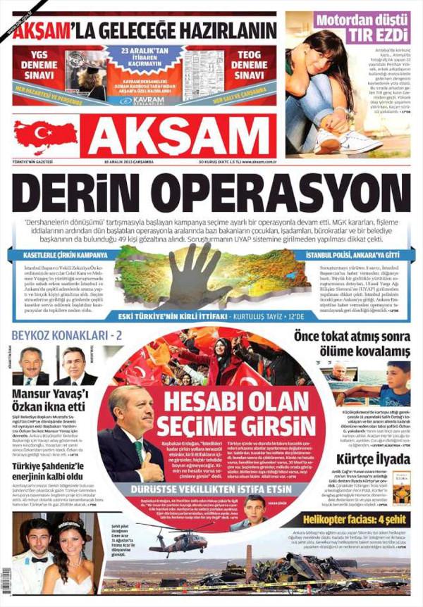 Gazeteler tarihi operasyonu böyle gördü!