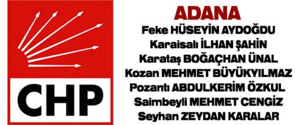 CHPden Adana sürprizi
