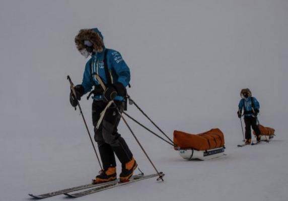 Antarktikadan Güney Kutbuna gidiyor
