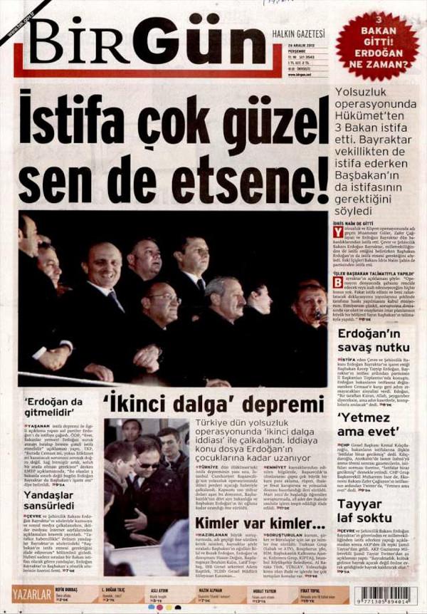 Gazeteler kabine depremini böyle gördü!