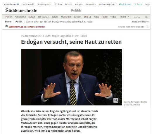 Türkiyedeki istifaların ardından dünya basını
