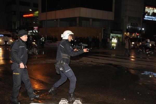 Protestoya polis müdahalesi!