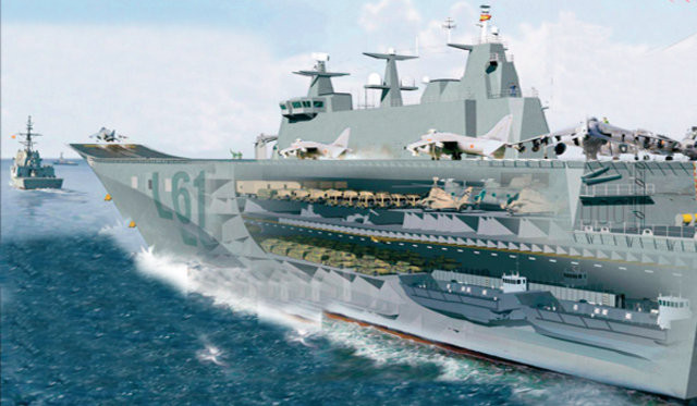 İşte Türkiyenin askeri uçak gemisi !