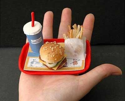 Dünyanın en küçük fast food menüsü !