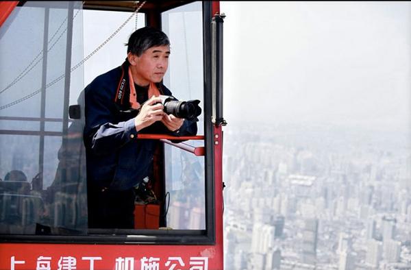 Sana dün bir vincin üzerinden baktım Şanghay