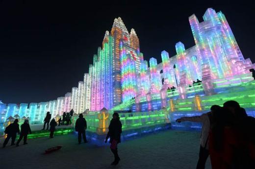 15'inci Uluslararası Harbin Buz ve Kar Festivali başladı