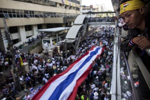 Taylandda şehri kapama eylemi