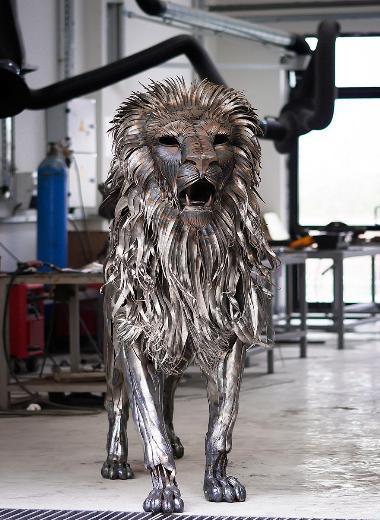 Selçuk Yılmazın aslanı tüm dünyanın dikkatini çekti