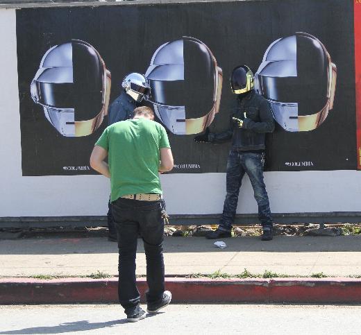 Daft Punk yıldızları kasksız görüntülendi