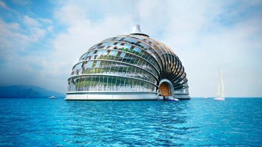 Hem karada hem denizde otel