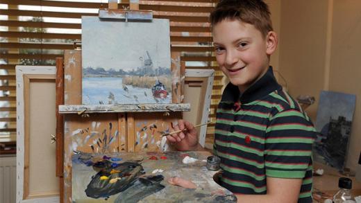 Mini Monet 11 yaşında servet kazandı