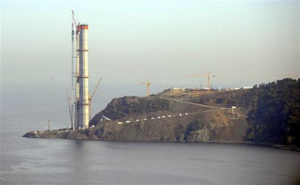 3. Boğaz Köprüsünün temelleri tamamlandı