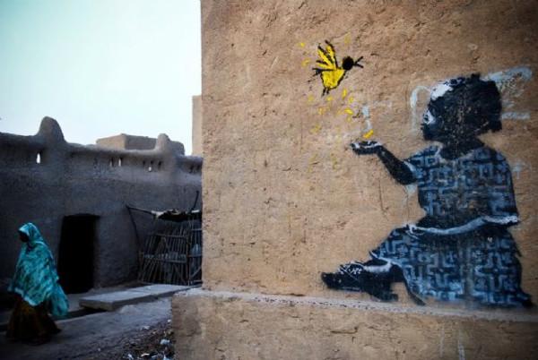 Duvarların sahibi Banksy