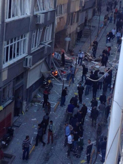 Taksimde patlama