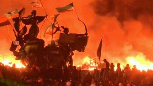 Kiev alev alev yanıyor